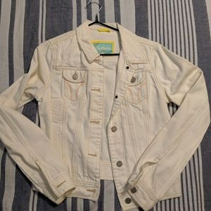 EUC White denim jacket